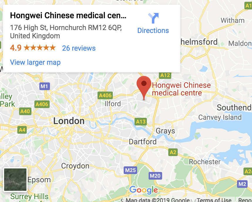 Hongwei Chinese Medicine Clinic, Hornchurch Essex, London